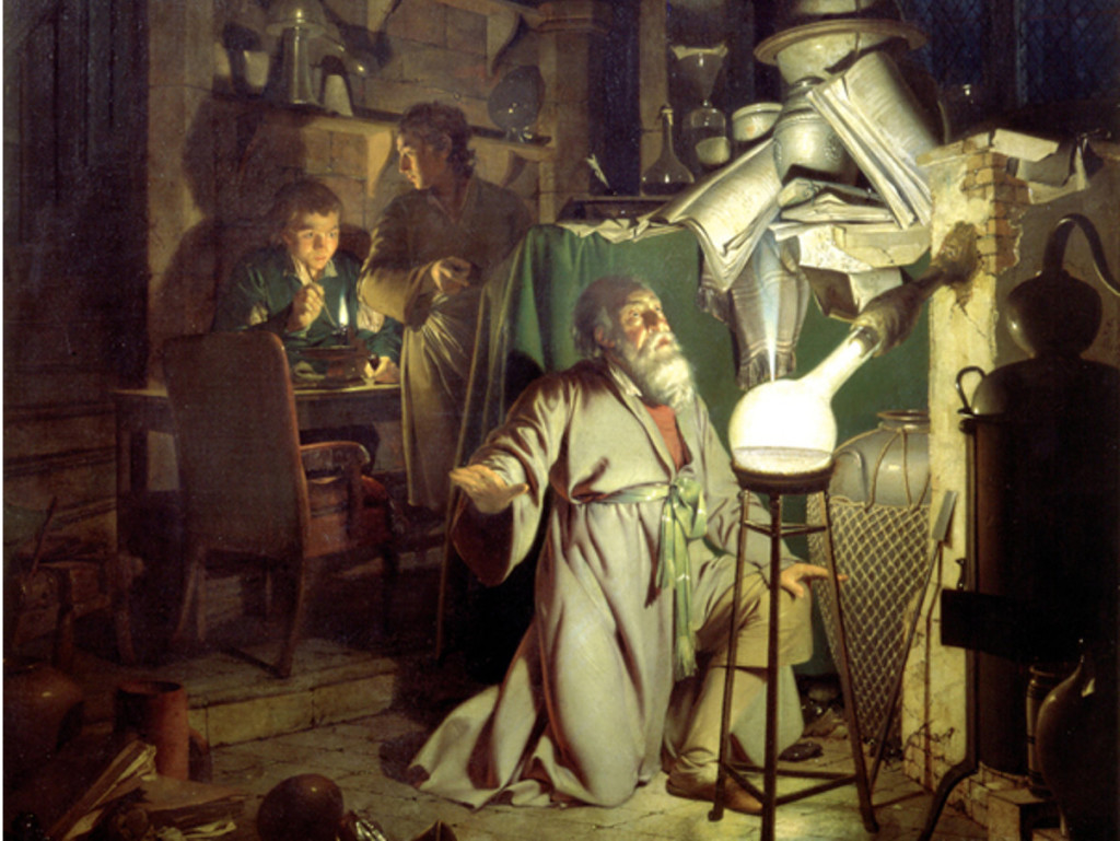 Joseph-Wright-Alchymista-hledajici-kamen-mudrcu-1771-vyrez