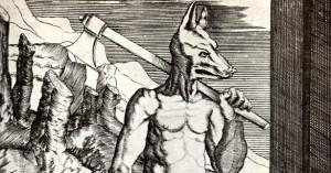 Agostino Veneziano (de' Musi): Král Lykáón, 1. pol. 16. stol (výřez)
