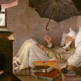 Carl Spitzweg: Chudý básnik (1839)