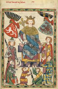 Václav II. (Codex Manesse, 1300-1340)