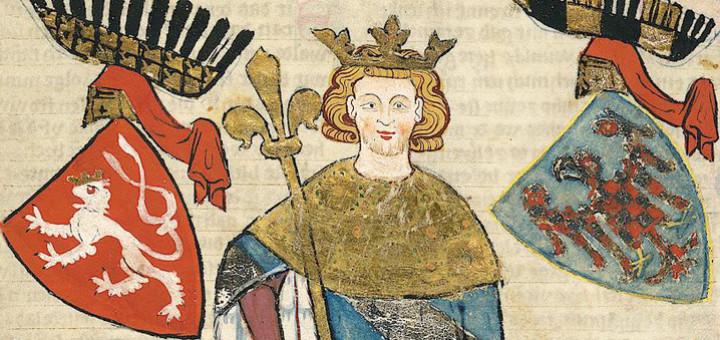 Václav II. (Codex Manesse, 1300-1340, detail)