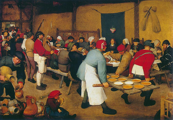 Rolnická svatba (Pieter Bbrueghel, 1566-1567)