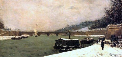 Seina pod Jenským mostem (Paul Gauguin, 1875)