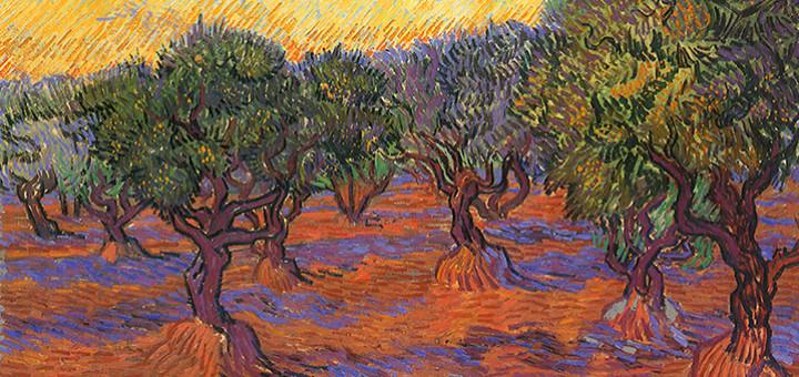 Vincent van Gogh: Červené vinice u Arles, 1888 (Puškinovo muzeum, Moskva)