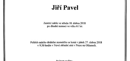 Poslední rozloučení s Jiřím Pavlem