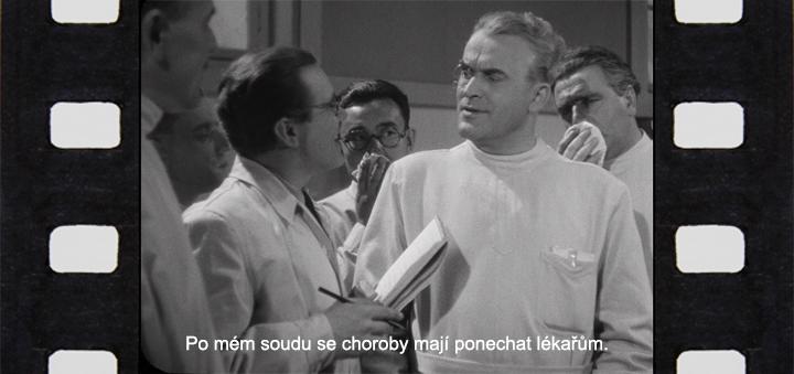Karel Čapek: Bílá-nemoc (Bedřich Karen jako prof. dr. Sigelius ve fimovém zpracování, režie: Hugo Haas, 1937)